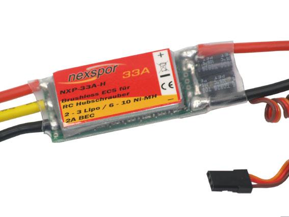 Brushless - Regler NEXSPOR NXP-33A-H 33A