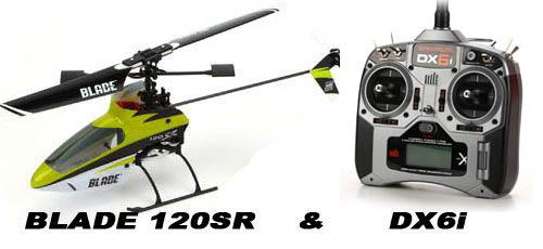 E-flite Blade 120 SR Heli Set mit Spektrum DX6i M2