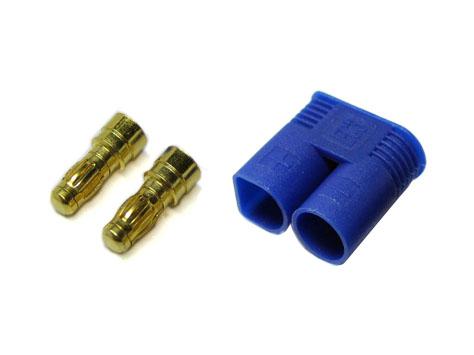 Goldkontakt Stecker 3,5mm mit Gehäuse blau EC3