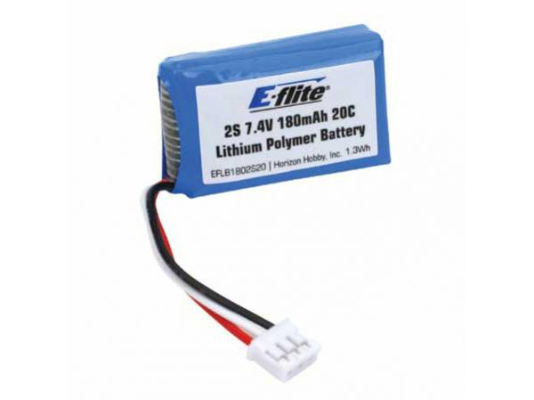 E-flite UMX Beast Li-Po Akku 180mAh 2S 7.4V 20C 26AWG