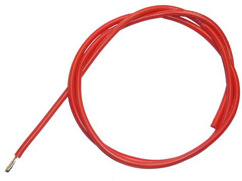 Silikon - Kabel 14AWG 1,6qmm rot