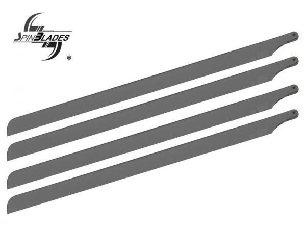 SpinBlades 4 Blatt Satz 435 mm MATT GREY SCALE