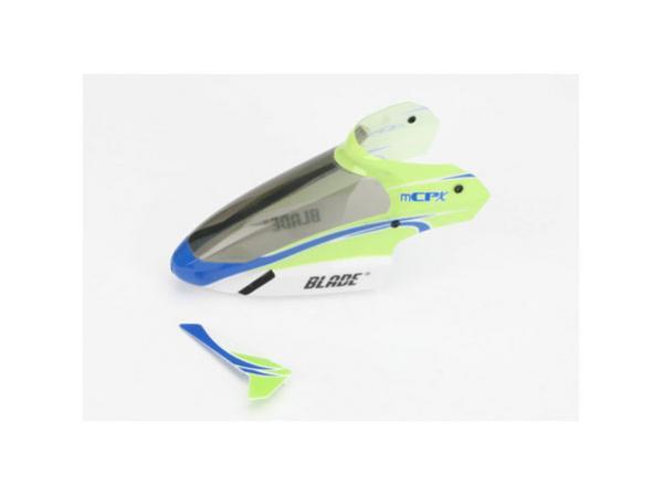 E-flite Blade mCPX Kabinenhaube mit Leitwerk grün