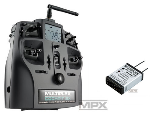 Multiplex COCKPIT SX Elegance Light-Set M-LINK mit RX-7 DR light 2,4 GHz