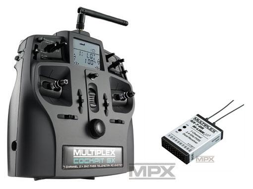 Multiplex COCKPIT SX Elegance Telemetry M-LINK mit RX-7 DR 2,4 GHz