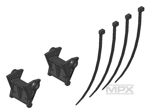Multiplex Kufenhalter (1Paar) FunCopter