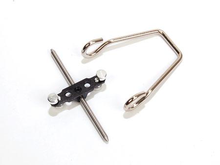 Blattwaage für Ø1 + 2mm mit Haltebügel