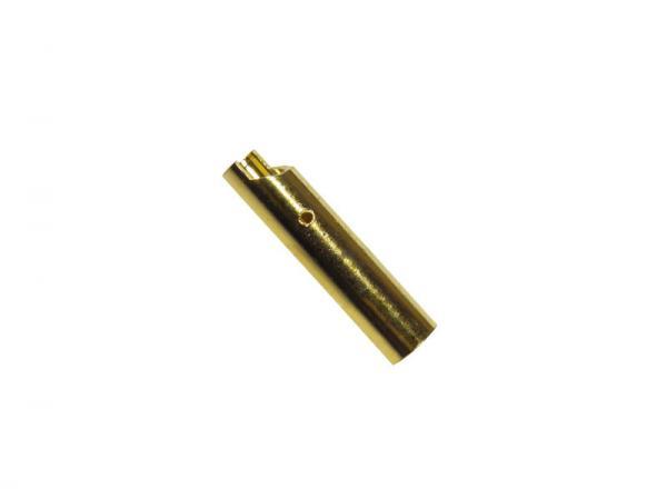 Goldkontakt Buchse 4 mm (abgeflacht)