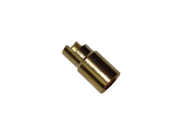 Goldkontakt Buchse 6mm (abgeflacht)