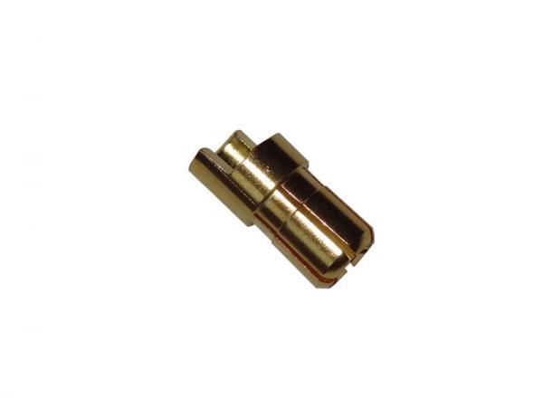 Goldkontakt Stecker 6mm (abgeflacht)