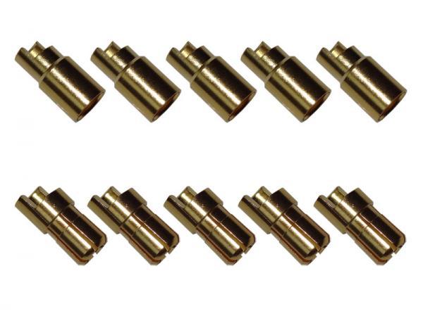 Goldkontaktverbinder 6mm (abgeflacht) Set mit je 5 Stück