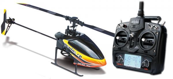 Walkera GENIUS CP Flybarless Micro 3D Heli BNF mit deVention DEVO 7 (Bulk) Set