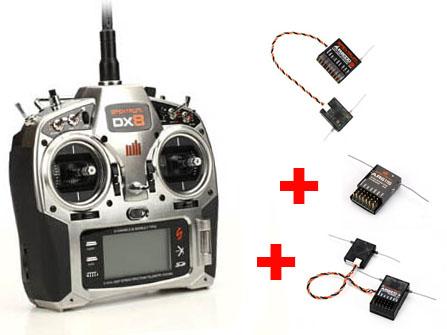 Spektrum DX8 SPECIAL Set inkl AR8000 AR6210 AR6115