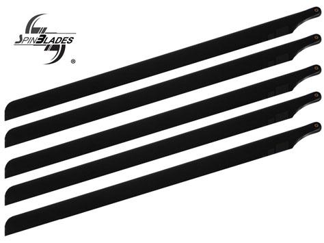 SpinBlades 5 Blatt Satz 600 mm MATT BLACK Scale