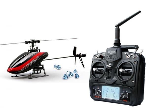 Walkera MINI CP Flybarless Micro 3D Heli mit deVention DEVO 7