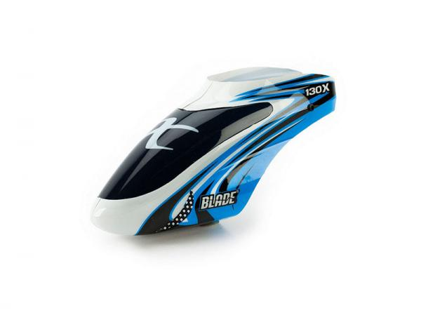 E-flite Blade 130X Haube blau/weiß