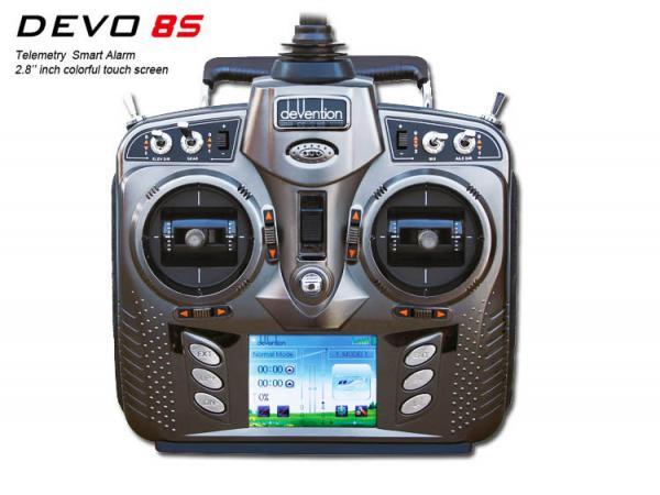 deVention DEVO 8S Touchscreen / Telemetrie 8Kanal 2,4GHZ Sender