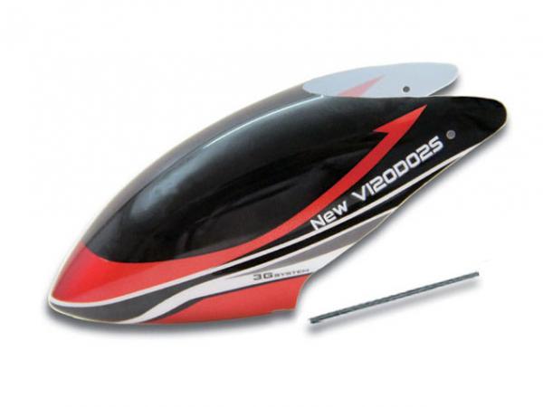 Walkera NEW V120D02S Kabinenhaube schwarz/rot