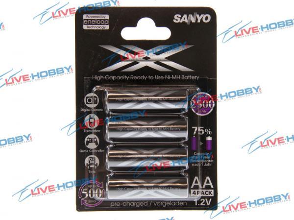 Sanyo ENELOOP XX NiMH Akku 1,2V 2400mA AA Mignon 4er-Blister