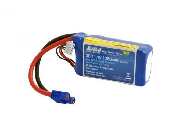 E-flite LiPo Akku 11,1V 1350mAh 30C mit EC3 Stecker