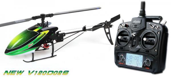 Walkera NEW V120D02S BNF Flybarless Micro 3D Heli mit deVention DEVO 7