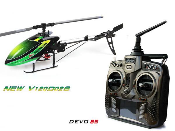 Walkera NEW V120D02S BNF Flybarless Micro 3D Heli mit deVention DEVO 8S