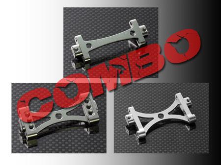 CNC Alu Rahmenverbinder Set für T-Rex 550