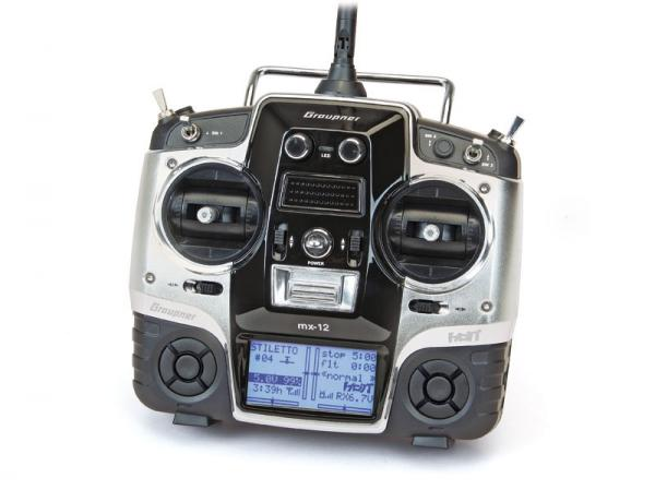 Graupner mx-12 Computersystem 6-Kanal HoTT Handsender mit Sprachausgabe