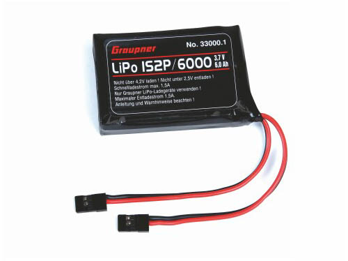 Graupner Senderakku flach Li-Po 1SxP/6000 3,7V TX