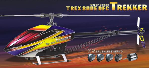 Align T-Rex 800E DFC TREKKER 3GX HV Super Combo