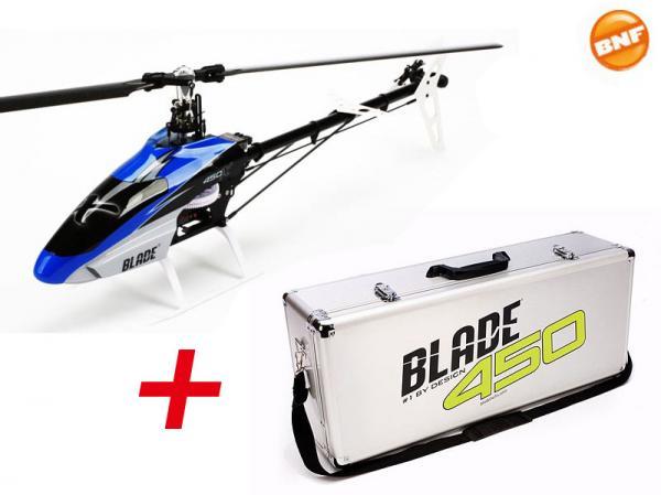 E-flite Blade 450 X BNF Flybarless Heli mit BeastX im Alukoffer