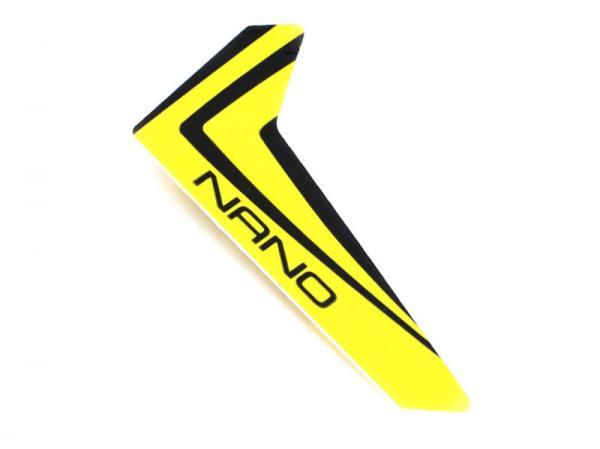 Blade Nano CPX Finne gelb mit Dekorbogen
