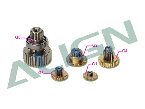 Align DS525M Getriebesatz Metall