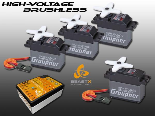 Graupner High Voltage Brushless Servos + Microbeast BeastX Combo