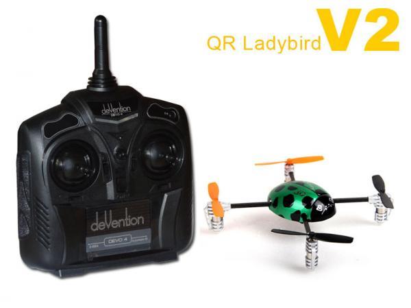 Walkera QR LadyBird V2 RTF Mini Quadcopter mit DEVO 4