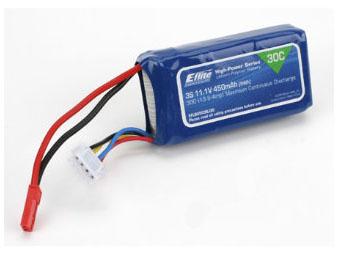 E-flite 450mAh 3S 11,1V 30C LiPo Akku 18AWG JST