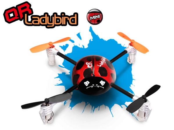 Walkera QR LadyBird RTF Mini Quadcopter mit DEVO 2402D Sender (leicht gebraucht)
