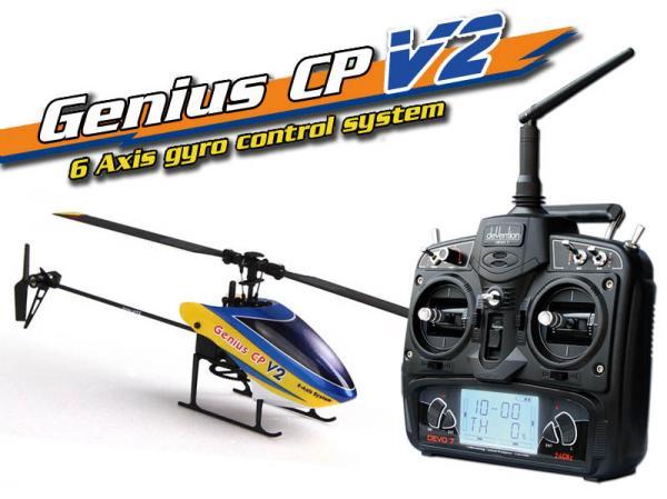 Walkera GENIUS CP V2 Flybarless Micro 3D Heli mit deVention DEVO 7