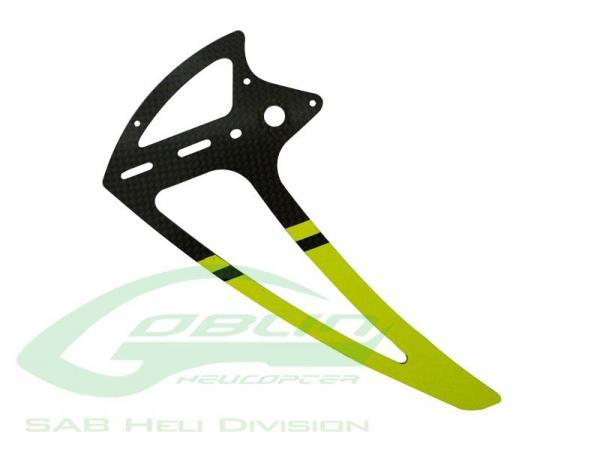 SAB Goblin 500 Carbon Seitenleitwerk gelb