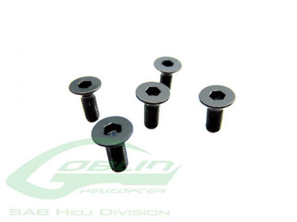 SAB Goblin Senkkopfinnensechskantschrauben M3x5mm (5 Stück) # HC132-S