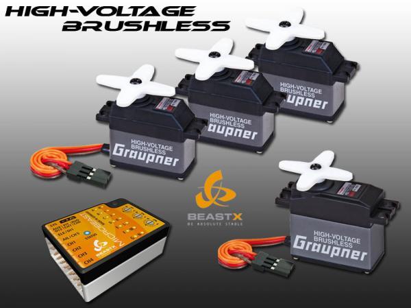 Graupner HV Brushless Servos HBS 660 / 770 + Microbeast BeastX Combo