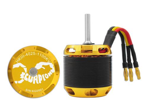 Scorpion HKIII-4025-1100KV mit 6mm Welle Brushless Motor (leicht gebraucht)