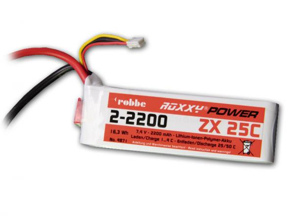 Robbe Li-Po Akku Roxxy-Power ZX 2S 7,4V 2200mAh 25C
