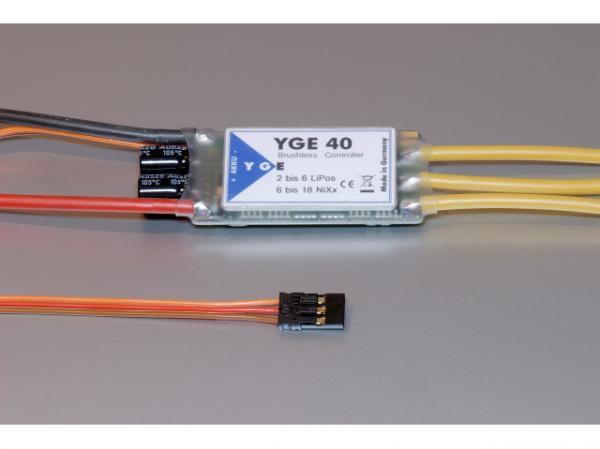 YGE 40A Brushless Regler - Steller 2-6S  V5