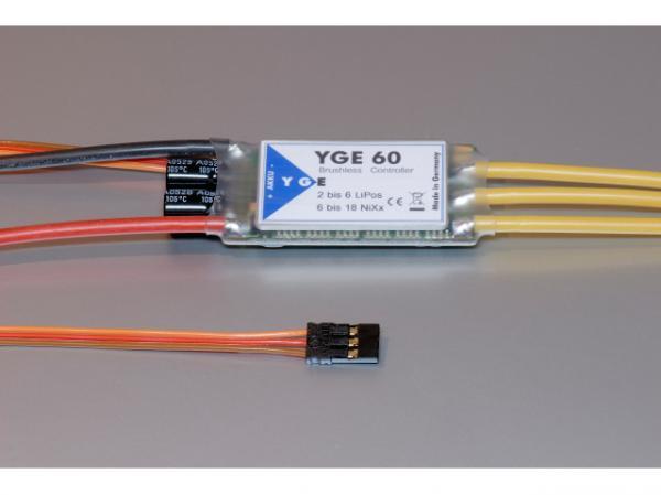 YGE 60A Brushless Regler - Steller 2-6S