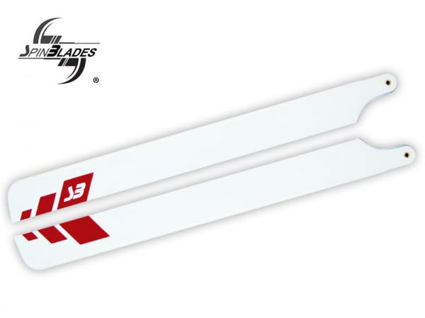 SpinBlades RED TIP 320 Symmetrisches Flybarless 3D Blatt 320 mm