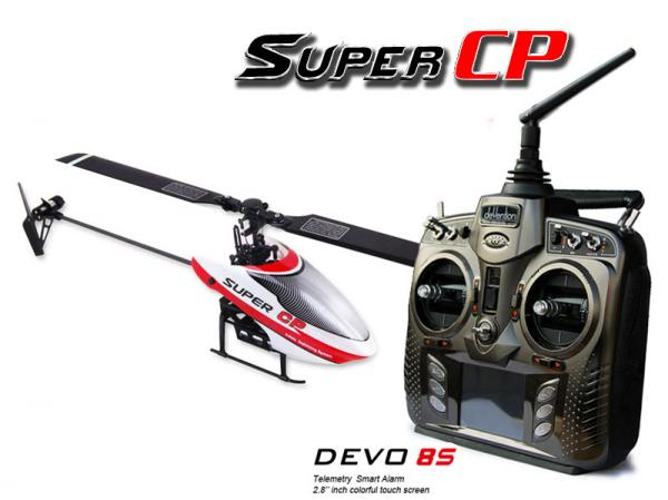 Walkera SUPER CP Flybarless Micro 3D Heli mit deVention DEVO 8S