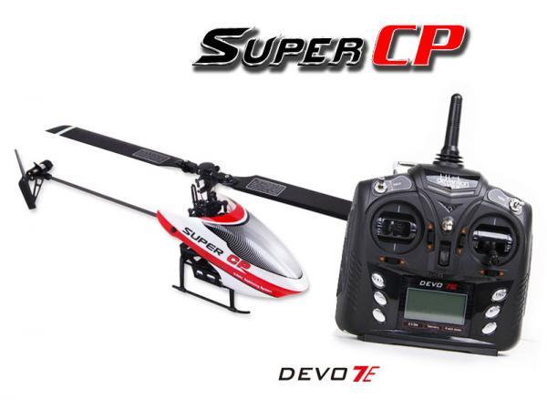 Walkera SUPER CP Flybarless Micro 3D Heli mit deVention DEVO 7E