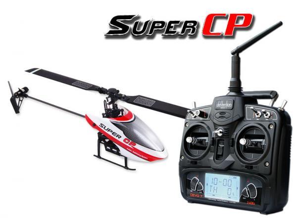 Walkera SUPER CP Flybarless Micro 3D Heli mit deVention DEVO 7