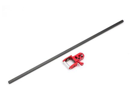 Xtreme Production 130X CNC Alu Heckantriebsgehäuse rot + Heckrohr